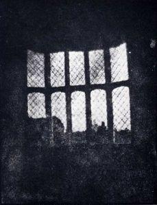 """Henry Fox Talbot, """"Latticed window in Lacock Abbey"""", 1835"""